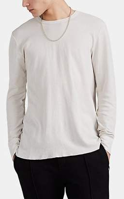 NSF Men's Textured-Knit Cotton Long-Sleeve T-Shirt - White