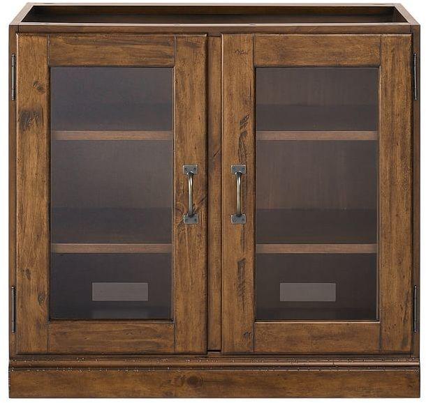 Double Glass Door Cabinet