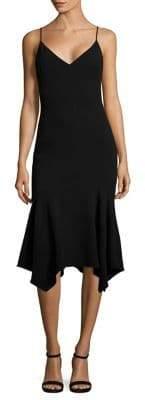 Black Halo Malik Handkerchief Hem Dress