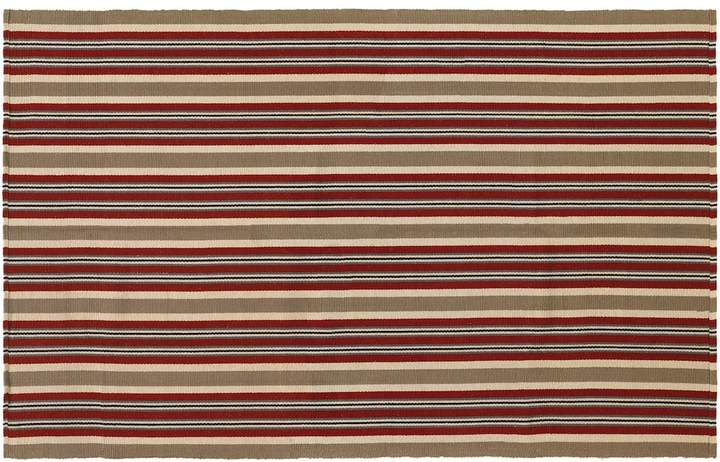 Couristan Couristan Bar Harbor Pumpkin Spice Striped Reversible Cotton Rug