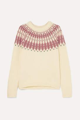 Madewell Fair Isle Cotton-blend Sweater - Cream