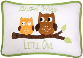 Lambs & Ivy Woodland Tales Grow Wise Little Owl Decorative Pillow