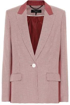 Rag & Bone Checked wool and cotton blazer