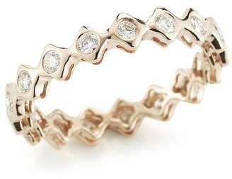 DANA REBECCA 14K Yellow Gold Diamond Sophia Ryan Stacking Band - 0.51 ctw