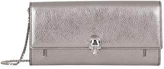 Alexander McQueen Metallic Leather Skull Wallet Bag