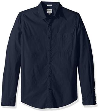 GUESS Men's Long Sleeve Paul Poplin 1 Pocket Shirt