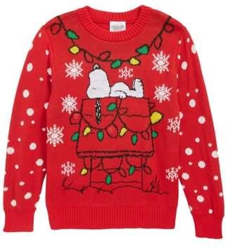 JEM x Peanuts(R) Snoopy(R) Light-Up Holiday Sweater