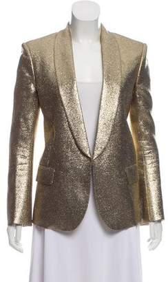 Balmain Metallic Open Blazer