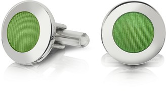 Forzieri Dandy - Round Striped Enamel Cufflinks