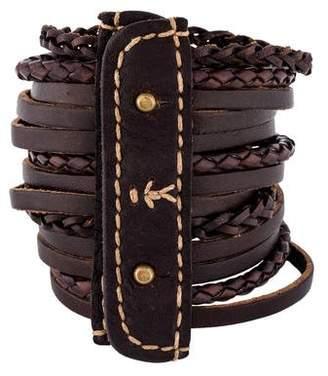 Henry Beguelin Leather Bracelet