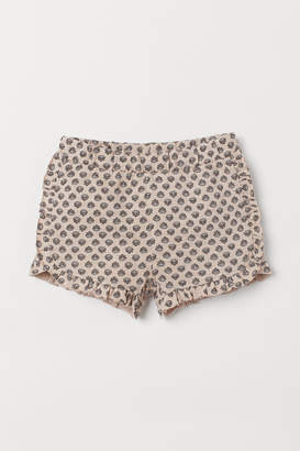 H&M Frilled cotton shorts