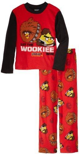 Star Wars Angry Birds Boys 8-20 2 Piece Fleece Pajama Set
