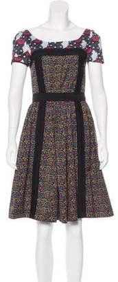 Prada Abstract Print Knee-Length Dress