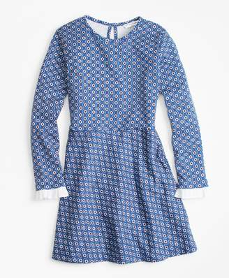 Brooks Brothers Girls Floral Cotton Knit Dress