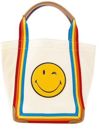 Anya Hindmarch Smiley rainbow tote