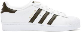 adidas Originals White Superstar Sneakers $80 thestylecure.com
