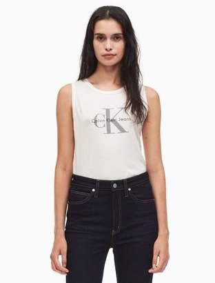 Calvin Klein monogram logo tank top
