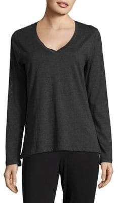 Lord & Taylor Cotton Long-Sleeve Tee