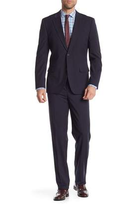 Nautica Navy Mini Check Two Button Notch Lapel Suit