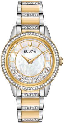 Bulova Women's Dress Two-Tone Stainless Steel Bracelet Watch 32.5mm