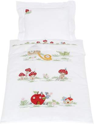 Embroidered Cotton Crib Duvet Cover
