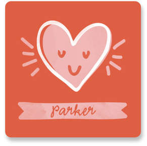 Happy Heart Day Custom Stickers