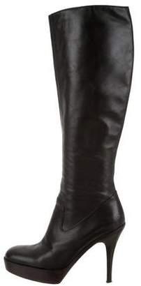 Saint Laurent Camden 90 Leather Boots