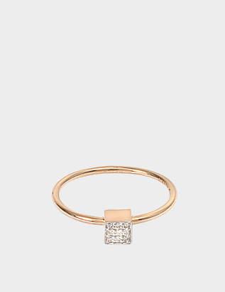 ginette_ny Mini Diamond Ever Square 18-karat rose gold ring