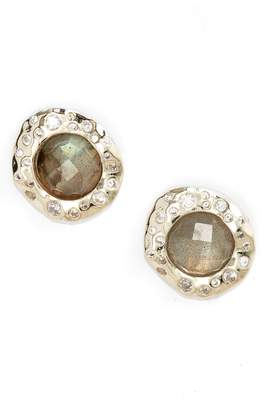 Melinda Maria Kelsey Labradorite & Crystal Stud Earrings