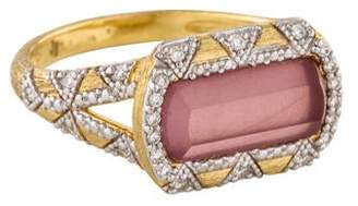 Jude Frances Mother of Pearl Doublet & Diamond Uptown Cocktail Ring