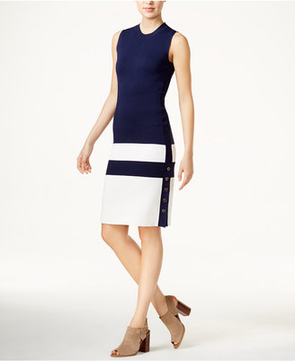 Tommy Hilfiger Colorblocked Sweater Dress, Only at Macy's $129.50 thestylecure.com