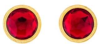 Ben-Amun Ruby Circle Earrings