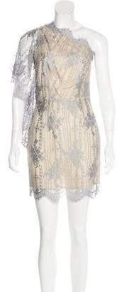 Lover One-Shoulder Lace Mini Dress
