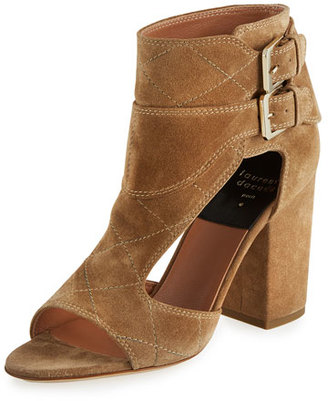 Laurence Dacade Rush Cutout Suede Open-Toe Bootie, Beige $1,065 thestylecure.com