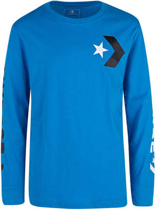 Converse Big Boys Star Chevron Graphic Cotton T-Shirt