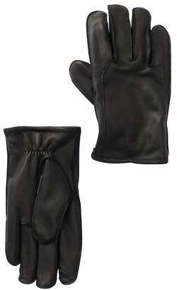 UGG Casual Faux Fur Lined Leather Tech Gloves