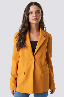 Olsen Astrid X Na Kd Single Button Blazer Burnt Orange