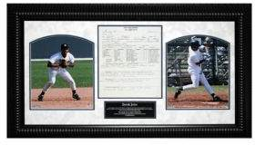 Steiner Sports Derek Jeter Scouting Report Framed Collage
