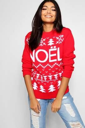 boohoo Noel Christmas Jumper