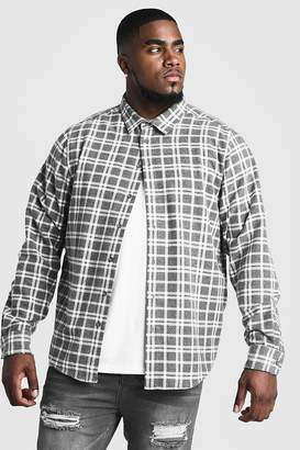 boohoo Big & Tall Shirt With Classic Check
