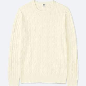 Uniqlo Men's Cotton Cashmere Cable Long-sleeve Sweater