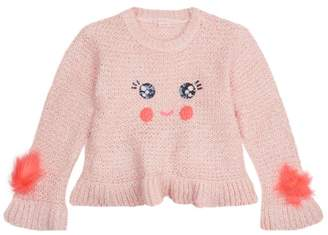 Billieblush Sequin Face Knitted Sweater