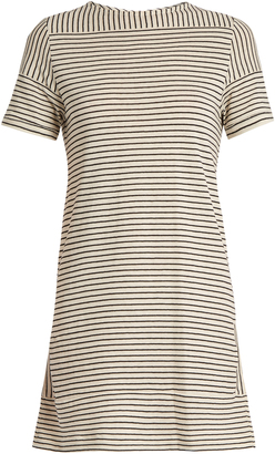 A.P.C. Mauricia striped cotton-blend jersey dress $125 thestylecure.com