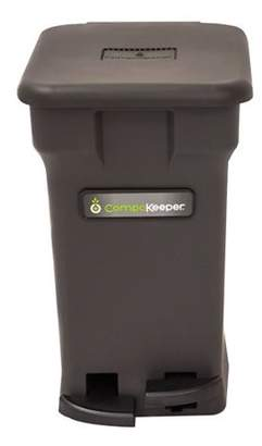 Boulder Clean CompoKeeper Kitchen Compost Bin-Black, 6 gal