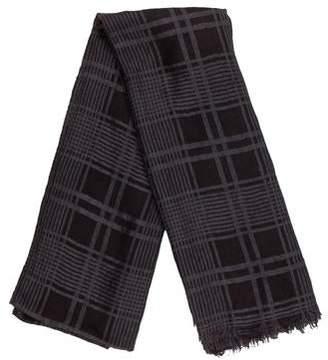 Hermes Cashmere Silk Plaid Scarf