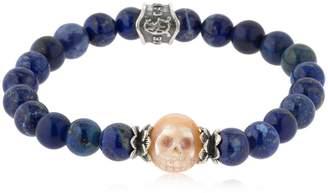Lapis Baroque Skull Lazuli Bracelet