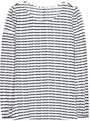 Schumacher Dorothee Curly Stripe silk-blend top