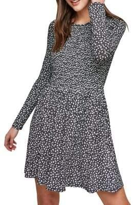 Miss Selfridge Mono Print A-Line Dress