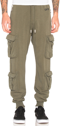 OFF-WHITE Washed Cargo Pant $516 thestylecure.com