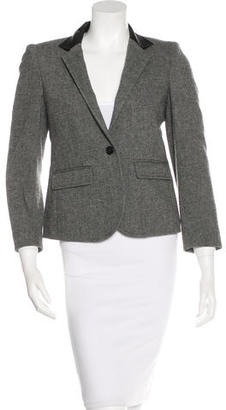 Boy. by Band of Outsiders Leather- Accent Tweed Blazer $85 thestylecure.com